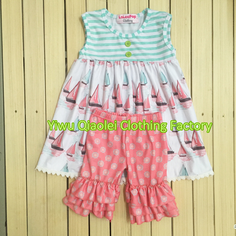 Boutique Little Girls Spring Cotton Outfits Kids 2 Pcs ...
