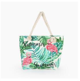 Flamingo Printed Casual Bag...