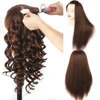 Naturalne Zwierząt Włosów i Włosy Syntetyczne Manekin Szef Szkolenia Manekin Głowy dla Fryzjerów Tanie Głowy Manekina z Włosami