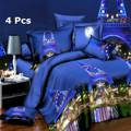 4Pcs 3D Design Brushed Printed Duvet Quilt Cover Bedding Set BeddingOutlet With Pillowcase QueenKing Size