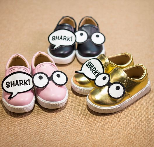 2016 Child Fashion Shoes Kids Moccasin Glasses Baby Princess Single Shoes Boys/Girls Leather Casual Shoes Sneaker Cute