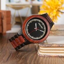 BOBO PÁSSARO Macho Relógios CdO01 O02 com Madeira De Madeira Antiga Banda Nova Moda Orologio Uomo Japão em Caixa De Presente De Madeira