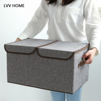 LVV HOME clothing storage box / home grocery 2 grid storage supplies multi functional daily necessities