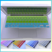 Colorful rainbow The American Silicone Keyboard Stickers Cover film protector Skin For macbook Air  11inch 13inch