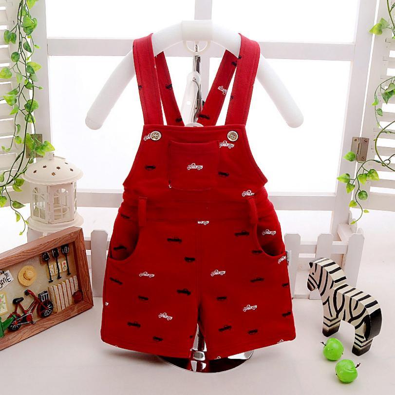 Overalls 2019 Sommer Neue Kinder Overalls Baby Jungen Mädchen Kleidung Druck Gürtel Hosen Overalls Neugeborenen Baumwolle Bib Hosen Y503 Gute QualitäT