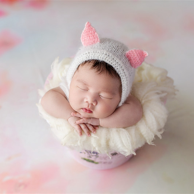 Baby Girl Animal Bonnet Knitted Newborn Baby Boy Fox Hat