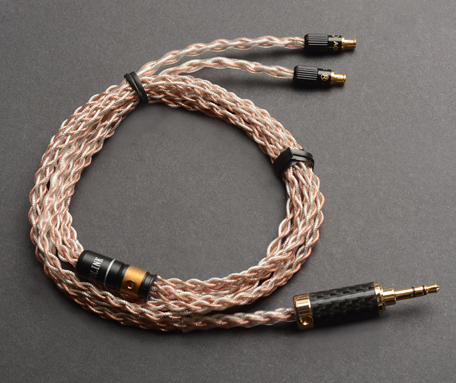 Hand Made DIY 8 Core Single Crystal Copper Silver Replacement Upgrade Hifi Music Audio Cable for CKS1100 CKR100 CKR90 E40 E70