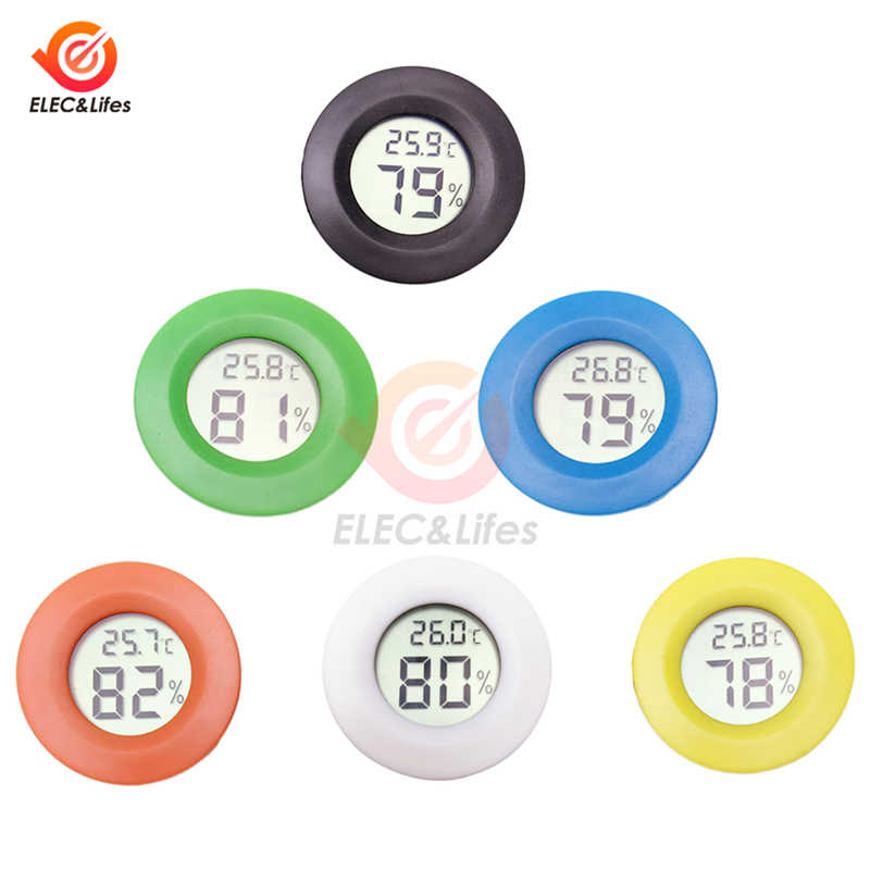 6 Colors Mini LCD Digital thermometer Hygrometer Detector Convenient Indoor Outdoor thermograph Car Temperature Humidity Meter