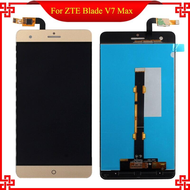 Ouro de 5.5 polegada para zte blade v7 max bv0710 completa lcd display + touch screen substituição assembleia digitador de vidro ferramentas gratuitas