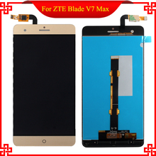 New Gold 5.5 inch For ZTE Blade V7 Max Full LCD Display+Touch Screen Digitizer Glass Assembly Replacement Free Tools