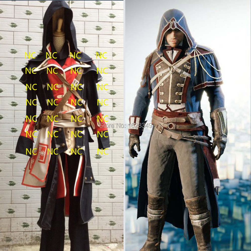 2015 Hostest Arno Dorian Cosplay Costumes Assassins Creed Unity