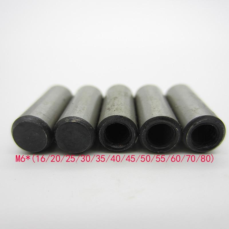 10PCS M6*(16/20/25/30/35/40/45/50/55/60/70/80)mm  DIN 7978  High Strength Steel Taper Pins With Internal Thread GB118