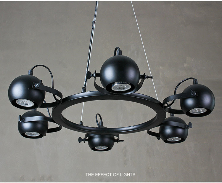6/8 Head Black Color Loft Style Wrought Iron Pendant Light Industrial Vintage Coffee Shop Decoration Lamp Free Shipping american country industrial vintage loft style wrought iron 3 head pendant light restaurant coffee shop retro lamp free shipping