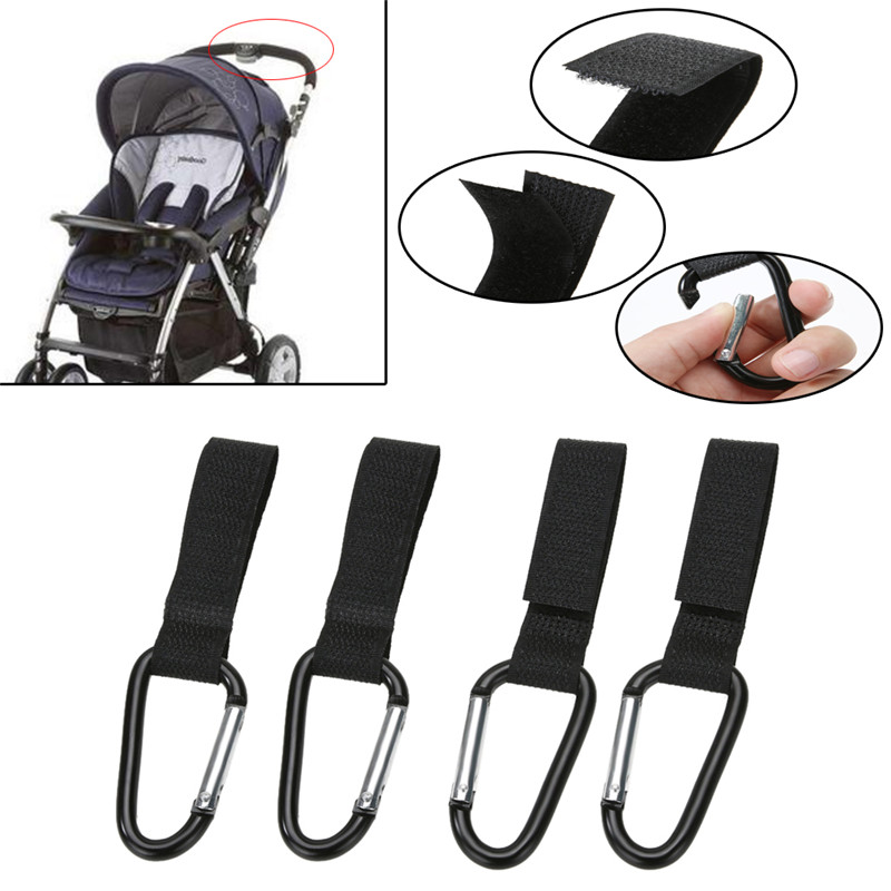 4pcs/lot Universal Stroller Clips Trolley Pram Organizer Slip-Resistant Hanging Shopping Bag Carrier Holder Pushchair Hooks Clip