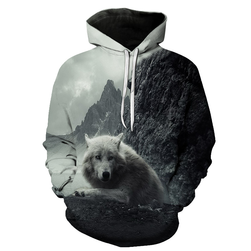 Wolf 3D Hoodies Sweatshirts Men Women Hoodie with Hat Casual Tracksuits Men Hoodies Sweatshirts Tops