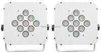 Высокое качество: 2 шт. 9*10 Вт 4in1 RGBW DMX плоским LED PAR освещения