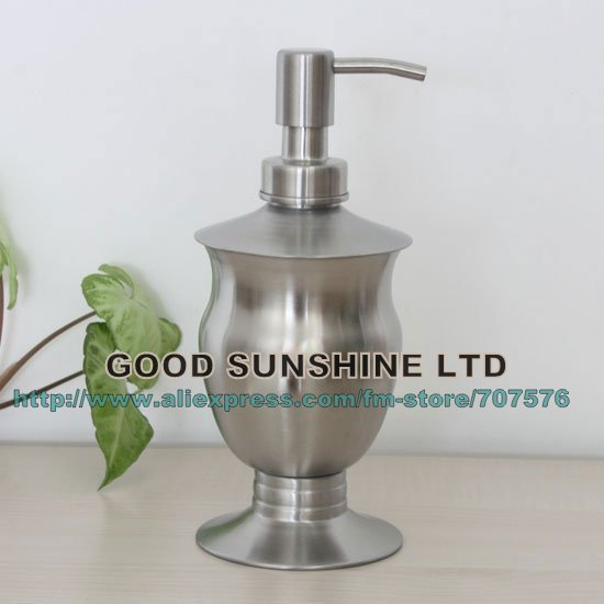 Free-Haul  Stainless steel Clear Lotion bottles Soap dispenser Lotion Pumb Containers bottle TSDS125 Capacily=350ml T-head