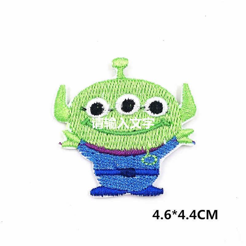 3 шт./упак. История игрушек мультфильма инопланетянин маленький зеленый человек животное Вышитые Железо на патч ручной работы для ремонта одежды наклейки