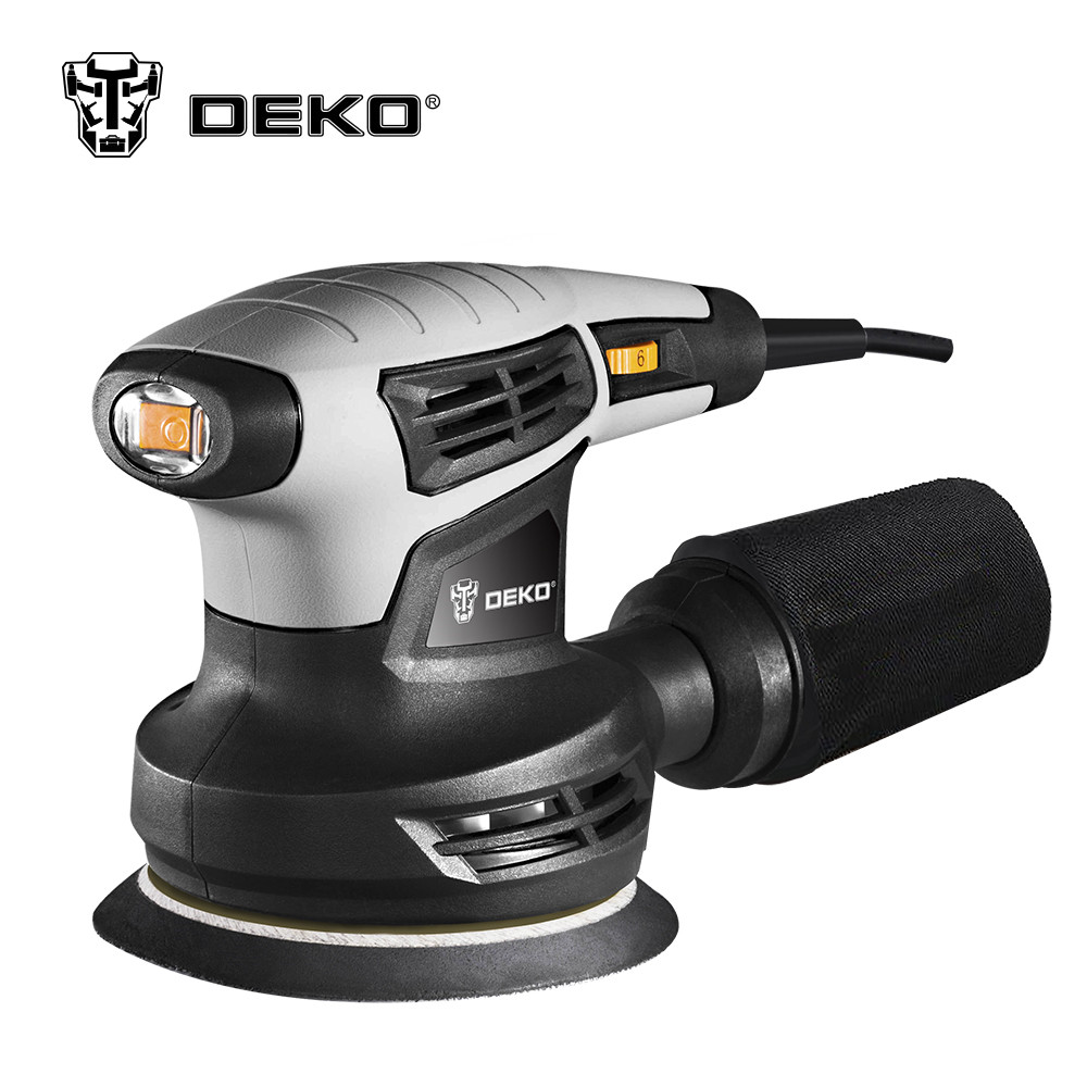 280W Random Orbit Sander with 15 Sheets of Sandpaper Dust Exhaust and Hybrid Dust Canister