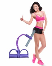 JUFIT Resistance Band With Handles Exercise 4 Rubber Bands Training Equipment Tube Workout For Stretching And Fitness
