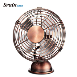 Sraintech USB Mini Table Fan Antique Fan Small Portable Table Fan with Switch Angle Adjustable Nordic Decorative Fan for Home