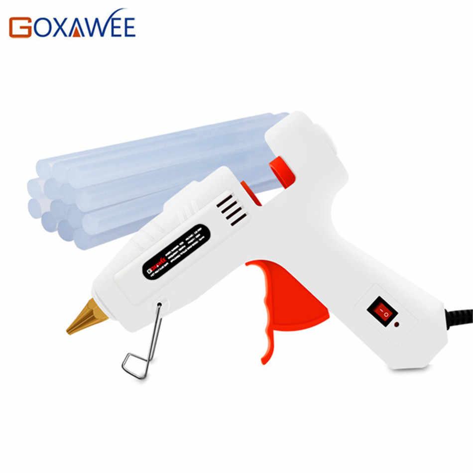 Goxawee الكهربائية صمغ يسيح بالحرارة بندقية 20 W 80 W 105 W مع 10 قطعة عصيان غراء الحرارة درجة حرارة البنادق الحرارية Gluegun إصلاح عدد وأدوات