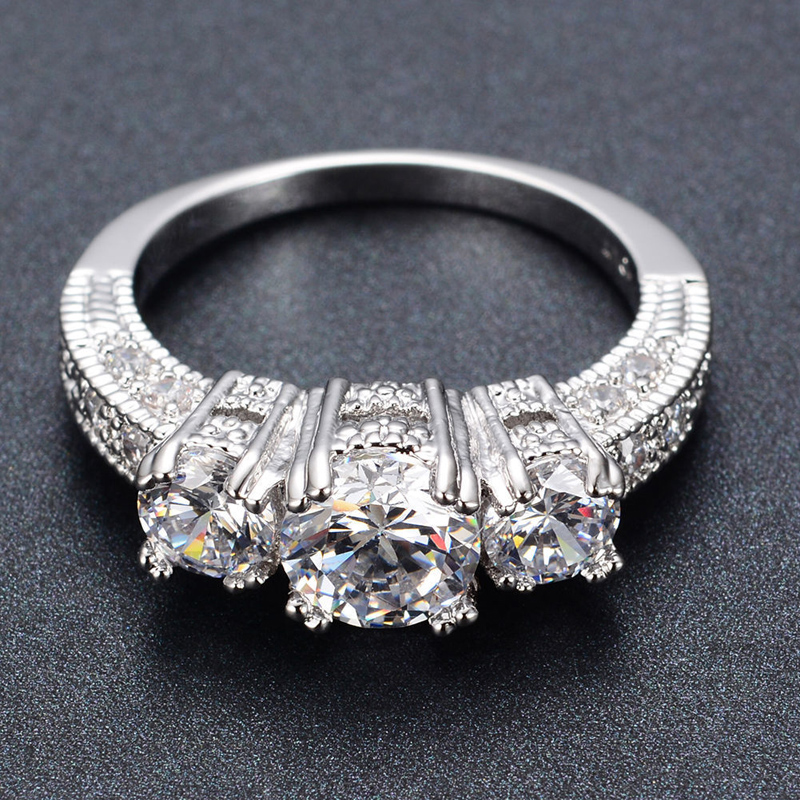 Best deals ) }}Silver Crystal Ring Female Anelli Bijoux