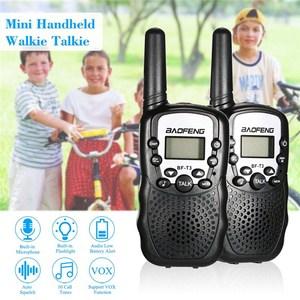 Image 3 - 2 sztuk Baofeng BF T3 Mini dzieci Walkie Talkie Way CB Ham Radio UHF stacja Transceiver Boafeng PMR 446 PMR446 skaner przenośny