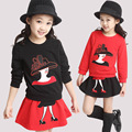 Autumn Female Children's Wear Suit Cotton Coat + Skirt Cartoon Design  Girl Skirt Set Kids Boys Clothes 2-6Y