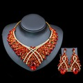 LAN PALACE fine jewelry set african beads necklace and earrings for women dubai jewelry sets six colors free shipping