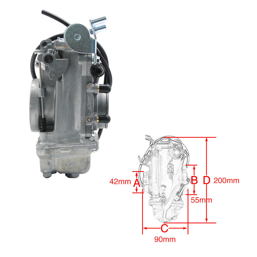 zsdtrp carb carburetor replace for mikuni hsr tm42 42mm easy kit carbs for harley mikuni evo  [ 1000 x 1000 Pixel ]