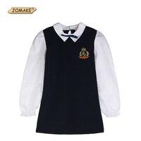 New Baby Girls Dress Spring 2017 Badge Princess Dress Girl Kids Dresses School Girls Clothes Brand