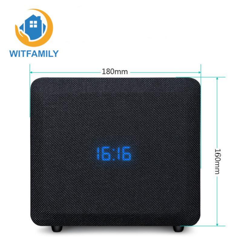 Belle pratique sans fil Bluetooth haut-parleur téléphone carte réveil Mini bois son maison rétro Radio Subwoofer bonne qualité