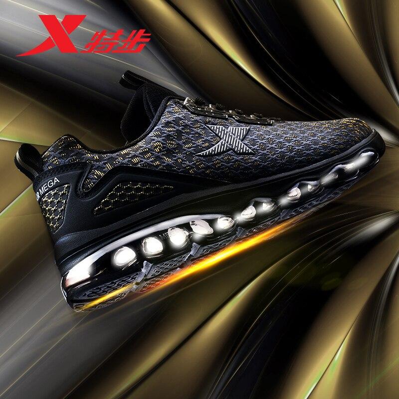 982119119087 XTEP Professional Athletic вся нога воздуха Мега подошва демпфирования спортивные кроссовки для мужчин's Бег Спортивная обувь