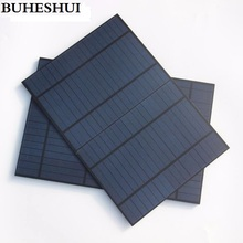 BUHESHUI PET 10W 18V Solar Panel Polycrystalline Silicon Grade A Solar Cell For 12V Battery Charger