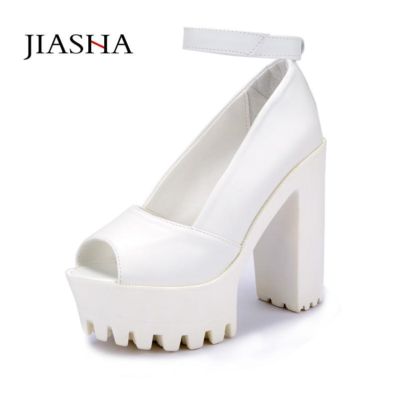 Platform shoes High heels women shoes zapatos mujer lolita shoes women pumps 2015 new fashion ladies shoes Fish head high heel eur 34 44 angelic imprint zapatos mujer lolita cosplay punk pumps high boots princess sweet girl s pumps black women s shoes