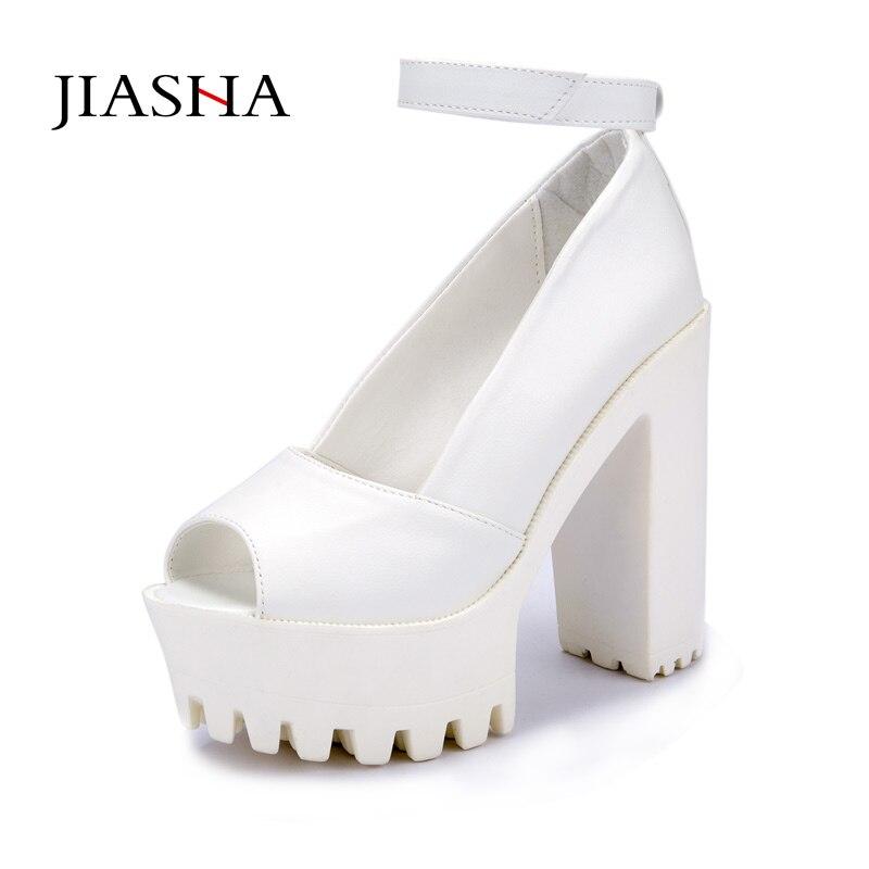 Platform shoes High heels women shoes zapatos mujer lolita shoes women pumps 2017 new fashion ladies shoes Fish head high heel eur 34 44 angelic imprint zapatos mujer lolita cosplay punk pumps high boots princess sweet girl s pumps black women s shoes