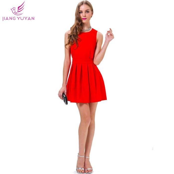 521509c9f Vestidos Roupas Femininas calle moda Casual vestido sin mangas de Color  rojo partido Vestidos mujer ropa Dropshipping en Vestidos de La ropa de las  mujeres ...