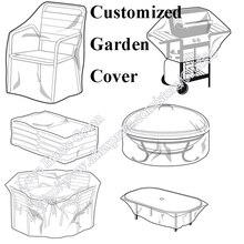 Customzied gemacht Outdoor Garten Abdeckung Stuhl Grill Schutz Schwarz Stoff Staubdicht UV gehemmt Wasserdichte Material