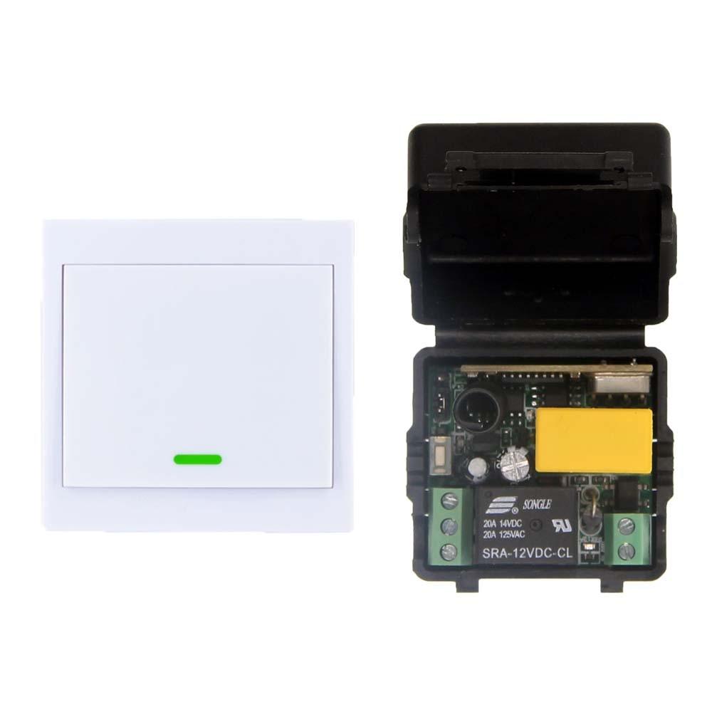 Умный дом 10A 220 В 1ch rf Дистанционное управление переключатель Системы для Светодиодная лампа полосы, приемник + 86 стена передатчик