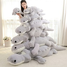 Large size 60/80/100 cm Stuffed Animal Crocodile Alligator Cotton Pillow Cushion Plush Toy  For Children Climbing Practice