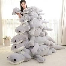 Մեծ չափսերով 60/80/100 սմ Լցոնած կենդանիների կոկորդիլոս Ալիգատոր բամբակյա բարձի բարձի պլուշ խաղալիք երեխաների համար, բարձրանալու պրակտիկա