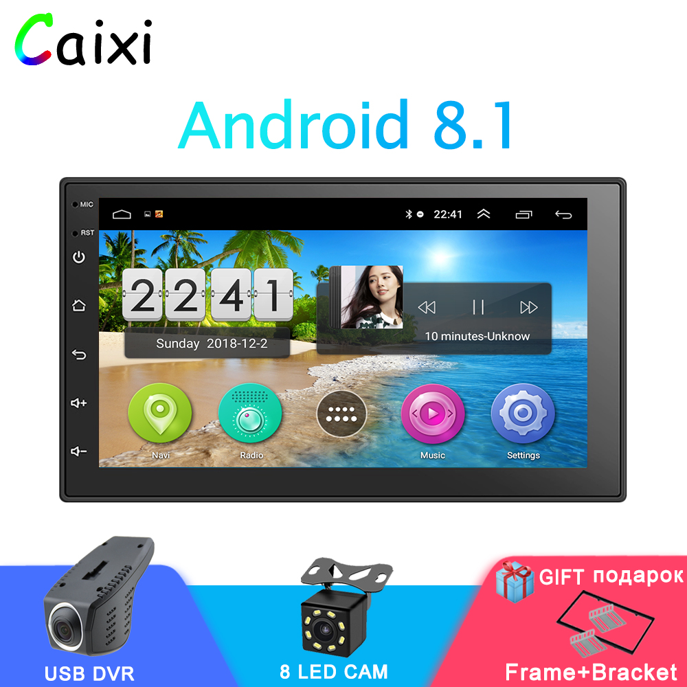 Auto Radio Auto <font><b>Android</b></font> <font><b>8.1</b></font> <font><b>2Din</b></font> Universal GPS Navigation Auto Audio Stereo Auto Multimedia MP5 Player Für Nissan Hyund toyota KIA image