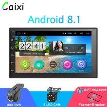 Автомобильный Радио Android 8,1 2Din универсальный gps для навигации и аудиосистемы стерео автомобильный мультимедийный MP5 плеер для Nissan Hyund Toyota Kia