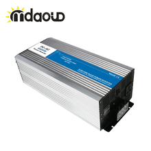 цена на FREE SHIPPING LED Display Off Grid Solar Inverter 5000Watt/10000W/5KW 12/24/48VDC to 110/220VAC Pure Sine Wave Inverter CABLES