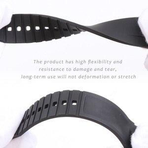 Image 3 - Bracelet de montre en Silicone 21MM, pour Hydro conquête L3 41mm 43mm, cadran pour Explorer2, Bracelet en caoutchouc
