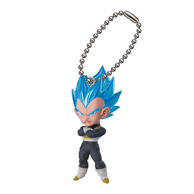 DRAGONBALL Dragon Ball Z Original BANDAI Phone/Key Chain Gashapon PVC Toys Figures UDM Burst 11 - Super Saiyan God SS Vegeta DRAGON BALL Store store