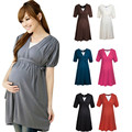 Maternidade Roupas de Algodão Confortável Vestido de Enfermagem Amamentação Roupas Vestido para As Mulheres Grávidas Gravidez Verão Roupas 2016