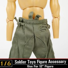 1/6 WWII German soldier army figures pants dragon DML clothing accessories trousers model for 12