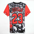 Mens T Shirts Moda Jordan Shorts Para Hombres de Manga Corta de Verano Ropa de Hip Hop Streetwear 3D Print Punk Stephen Curry Camiseta